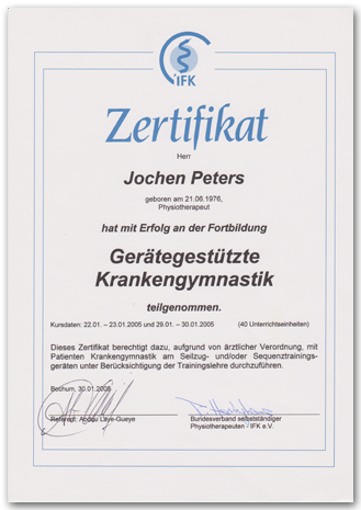 2005 Jochen Peters Geraetetraining